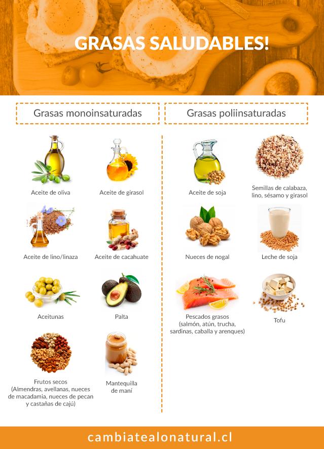 Grasas saludables; guía completa - Cámbiate a lo Natural