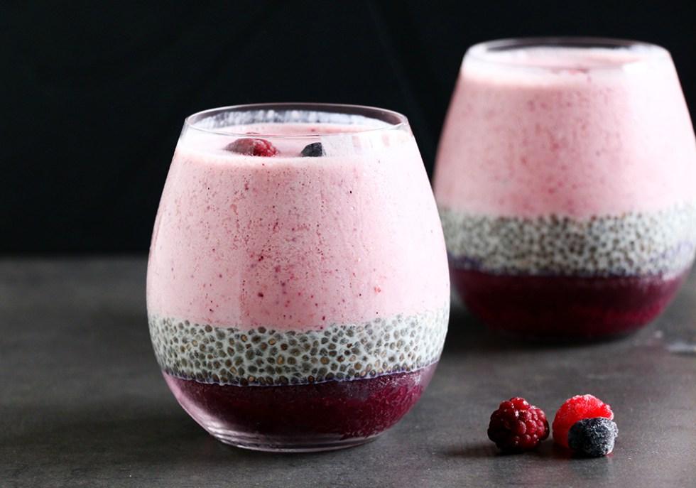 Receta Natural Desayuna Un Smoothie De Frutas Avena Y Chia